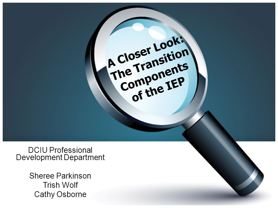 A Closer Look: The Transition Components of the IEP