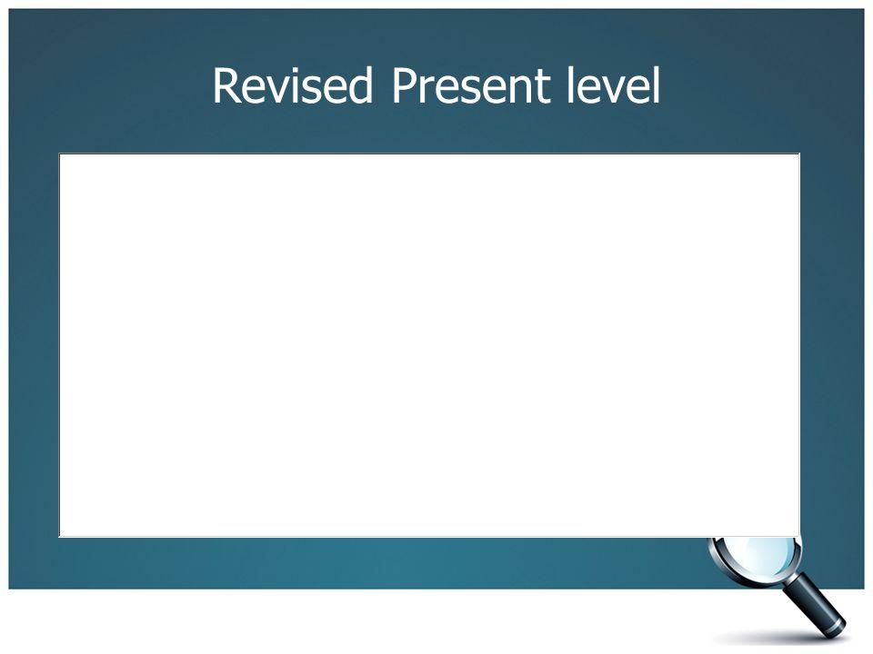 Revised Present level