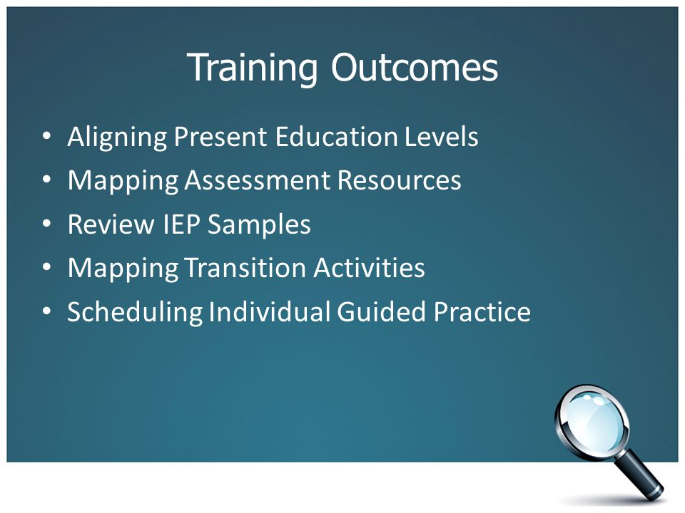 Training Outcomes Aligning Present Education Levels