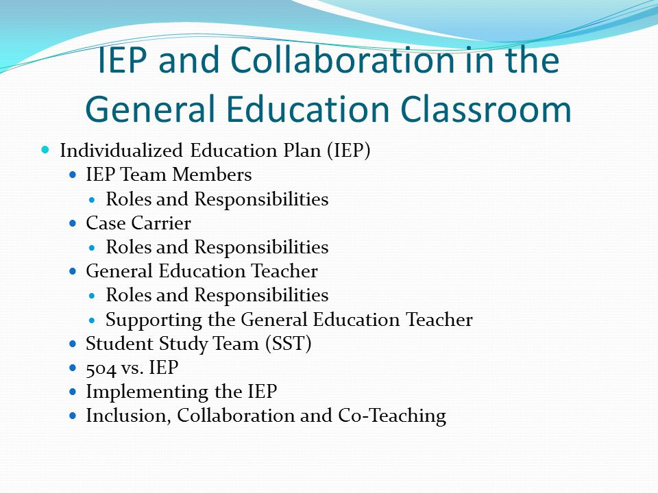 Collaborative Teaching Define ~ Iep and collaboration in the general education classroom