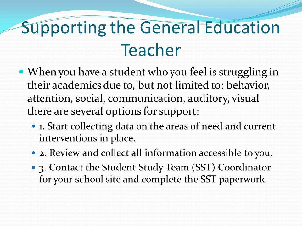 Supporting the General Education Teacher