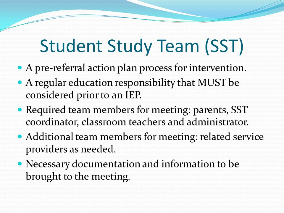 Student Success Team (SST) Manual - SFUSD: Home