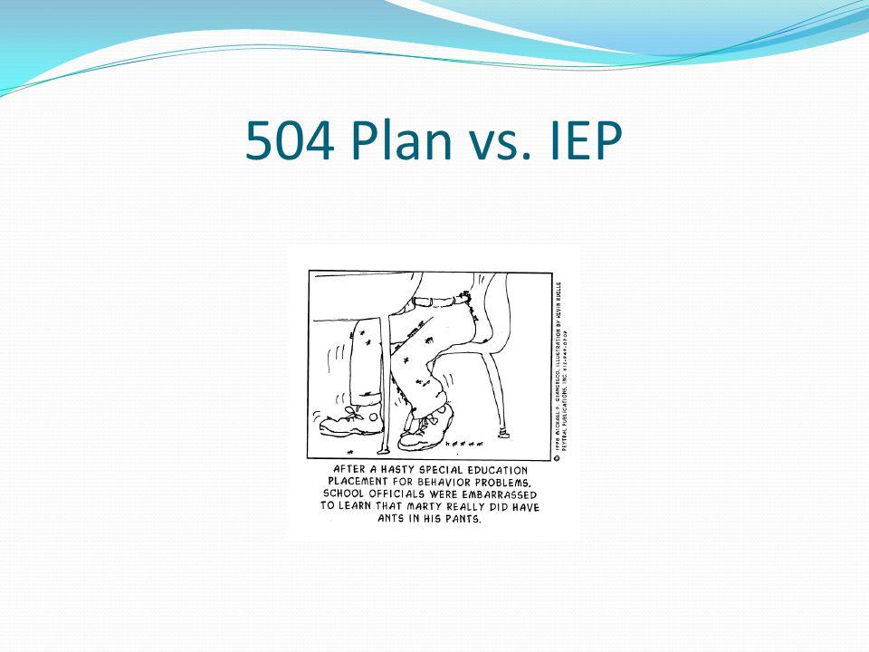 504 Plan vs. IEP