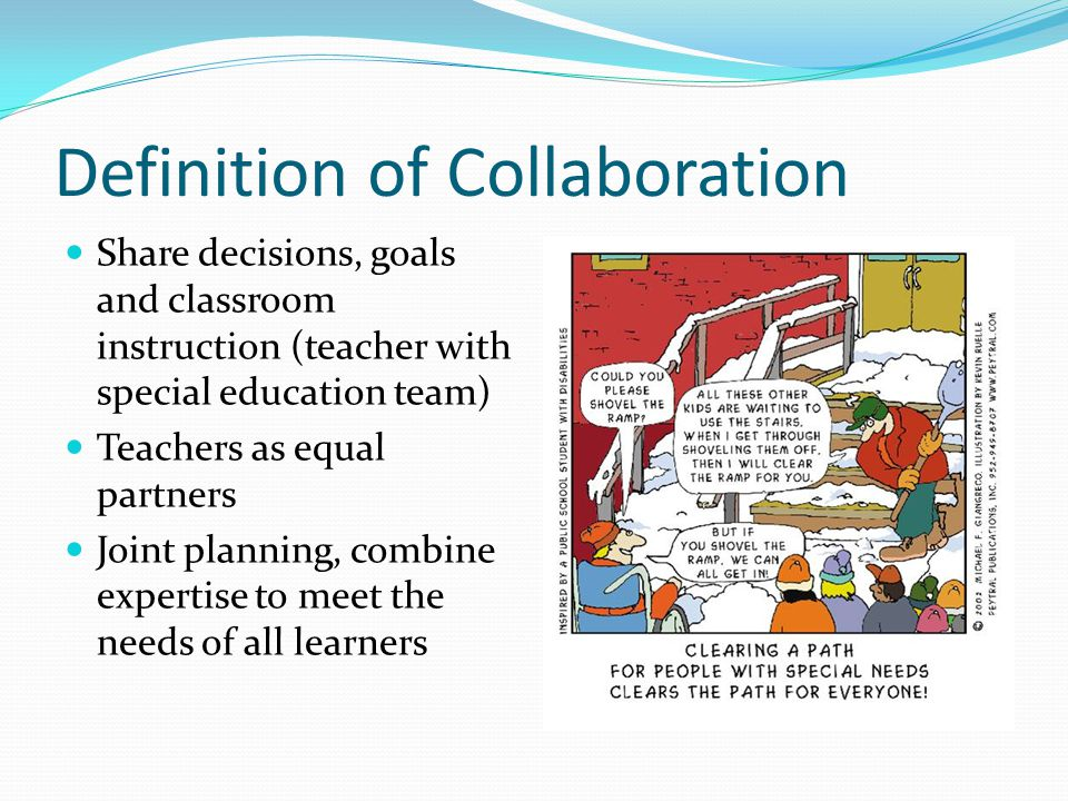 Collaborative Classroom Definition ~ Iep and collaboration in the general education classroom