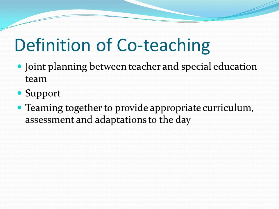 Definition of Co-teaching