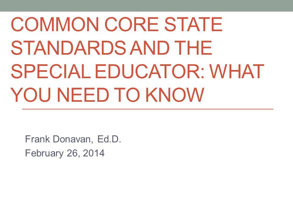Frank Donavan, Ed.D. February 26, 2014