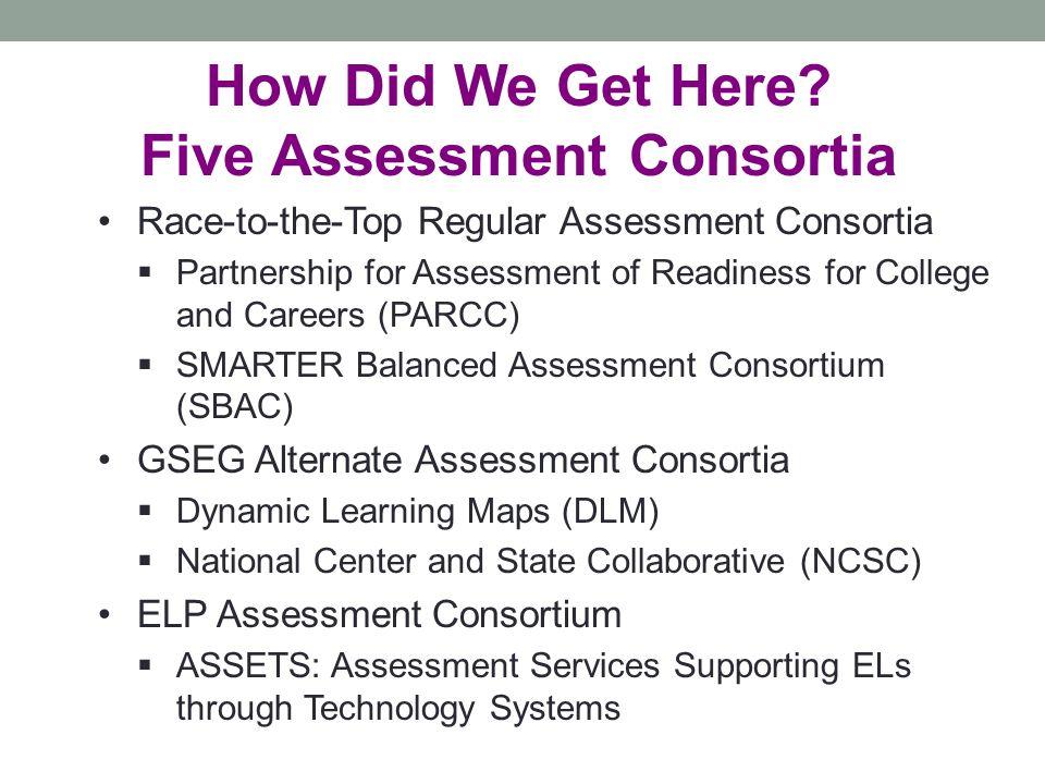Five Assessment Consortia