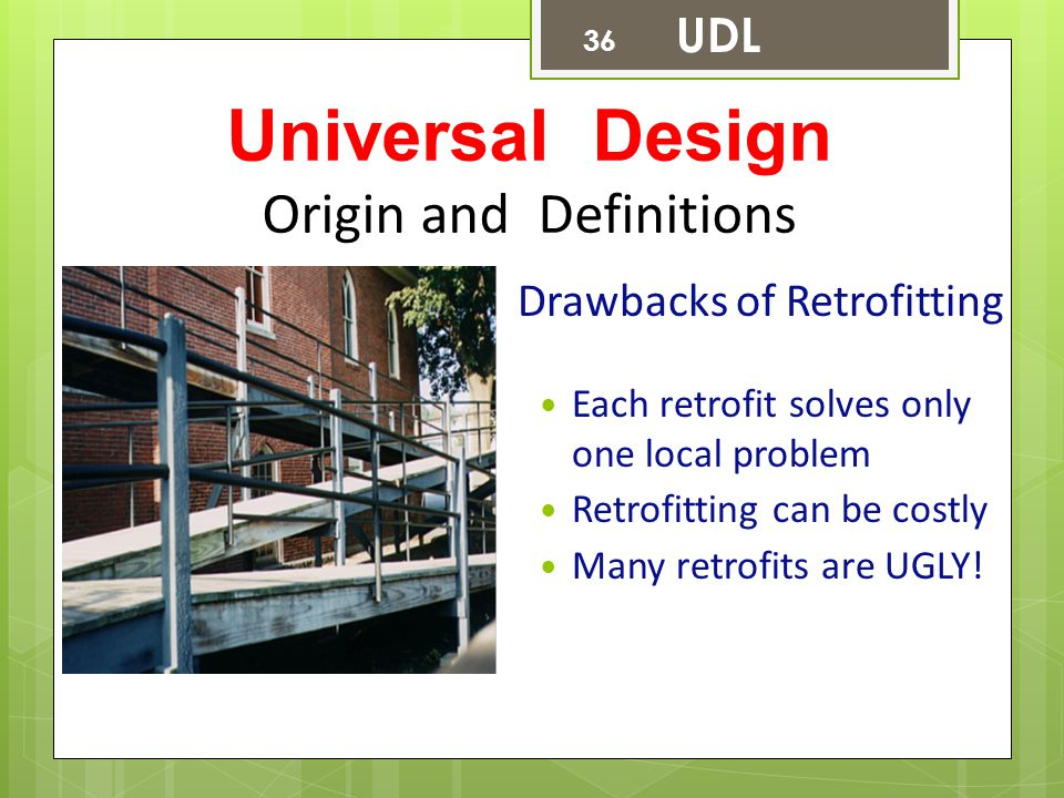 Universal Design Origin and Definitions