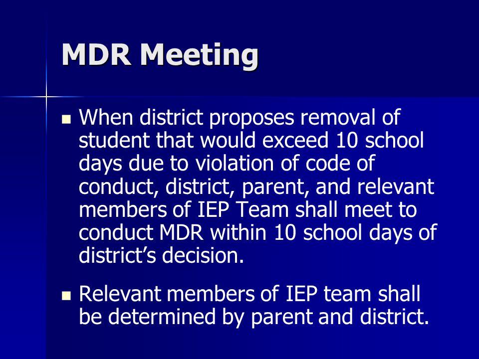 MDR Meeting