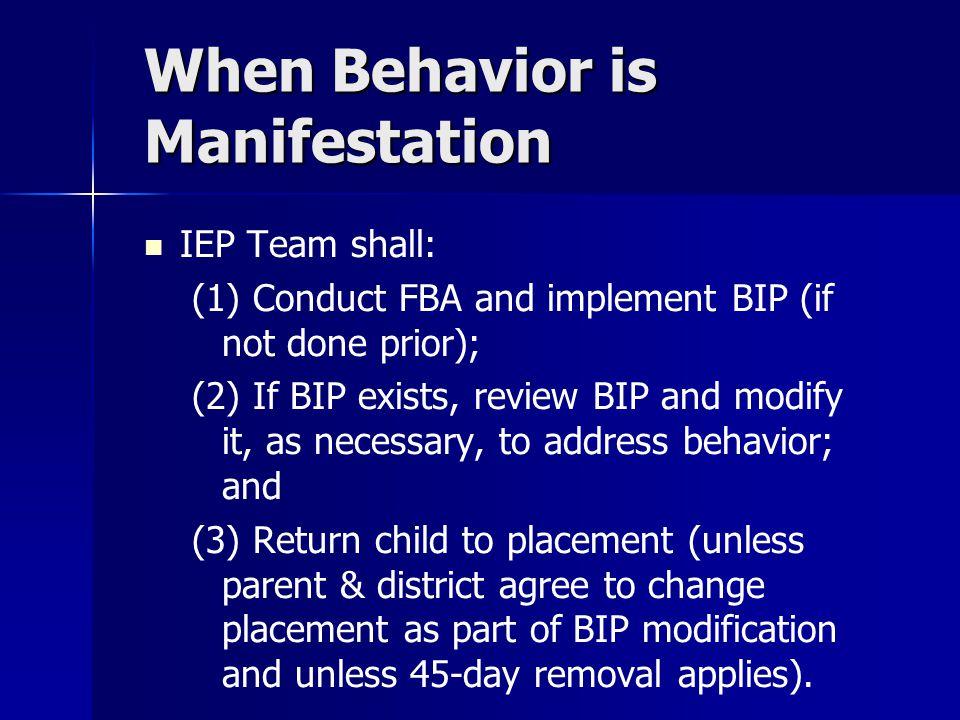 When Behavior is Manifestation