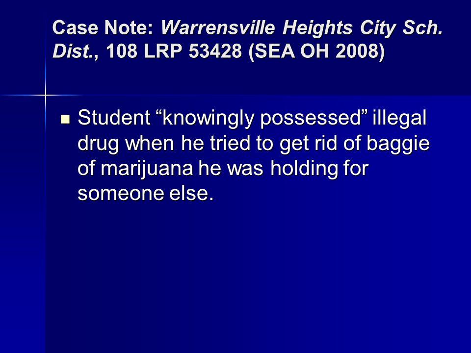 Case Note: Warrensville Heights City Sch. Dist