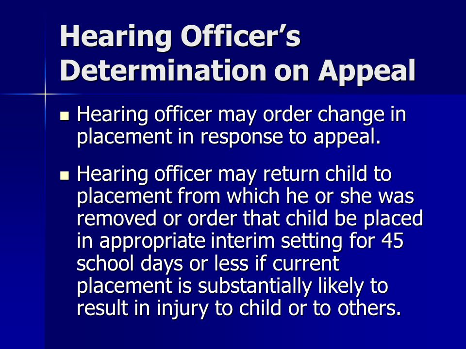 Hearing Officer's Determination on Appeal