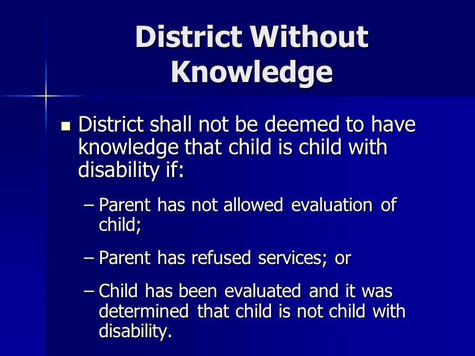 District Without Knowledge