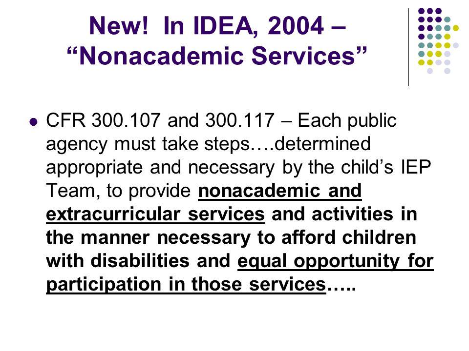 New! In IDEA, 2004 – Nonacademic Services