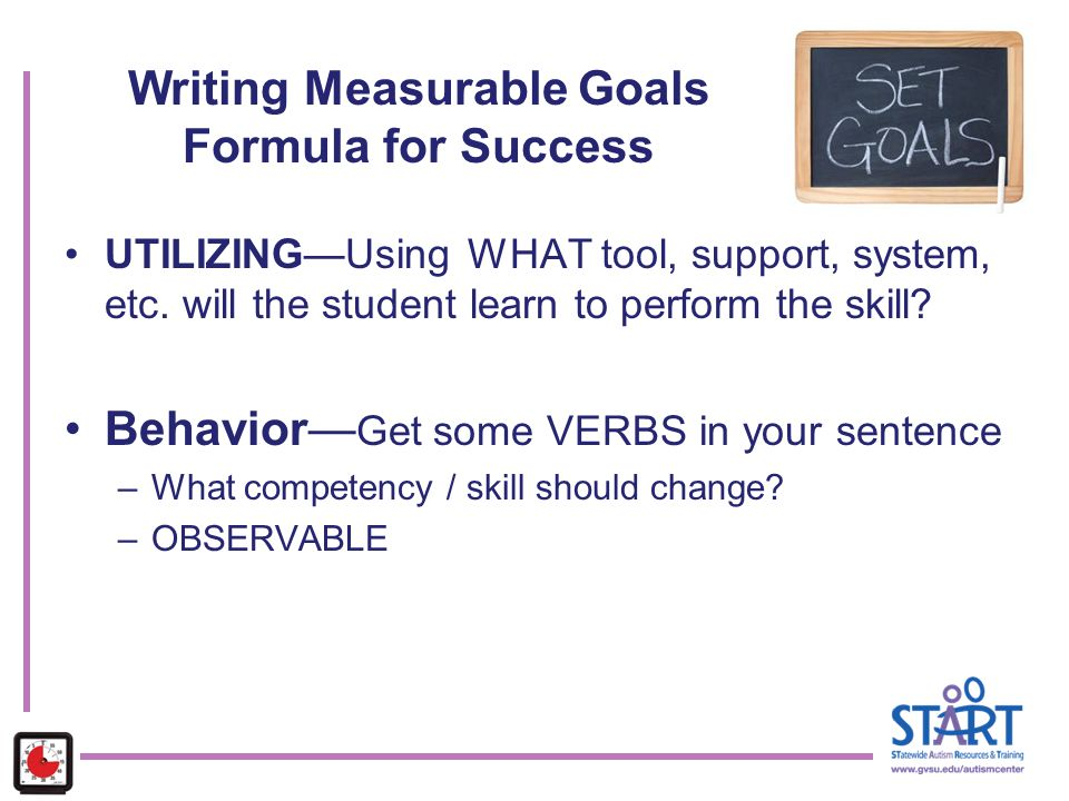 Writing Measurable Goals Formula for Success