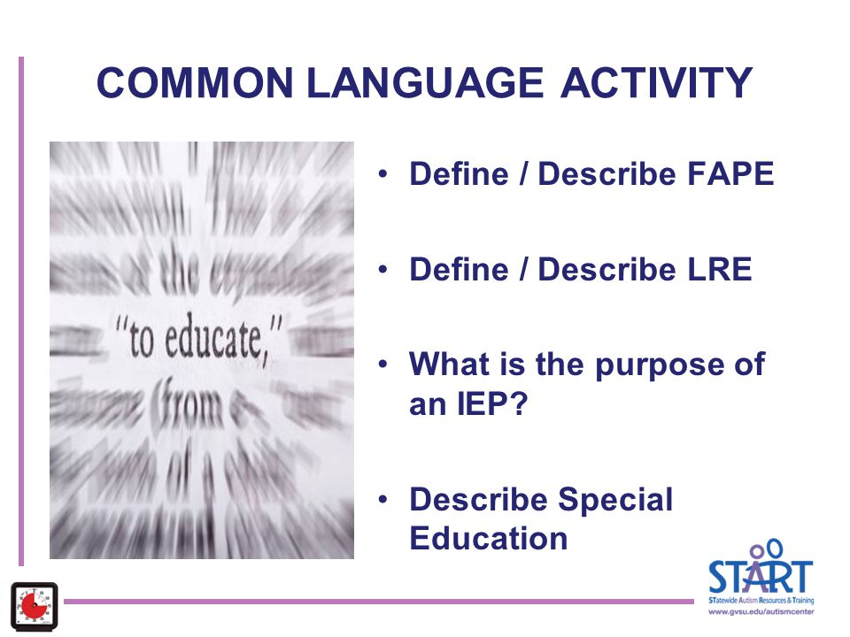 COMMON LANGUAGE ACTIVITY