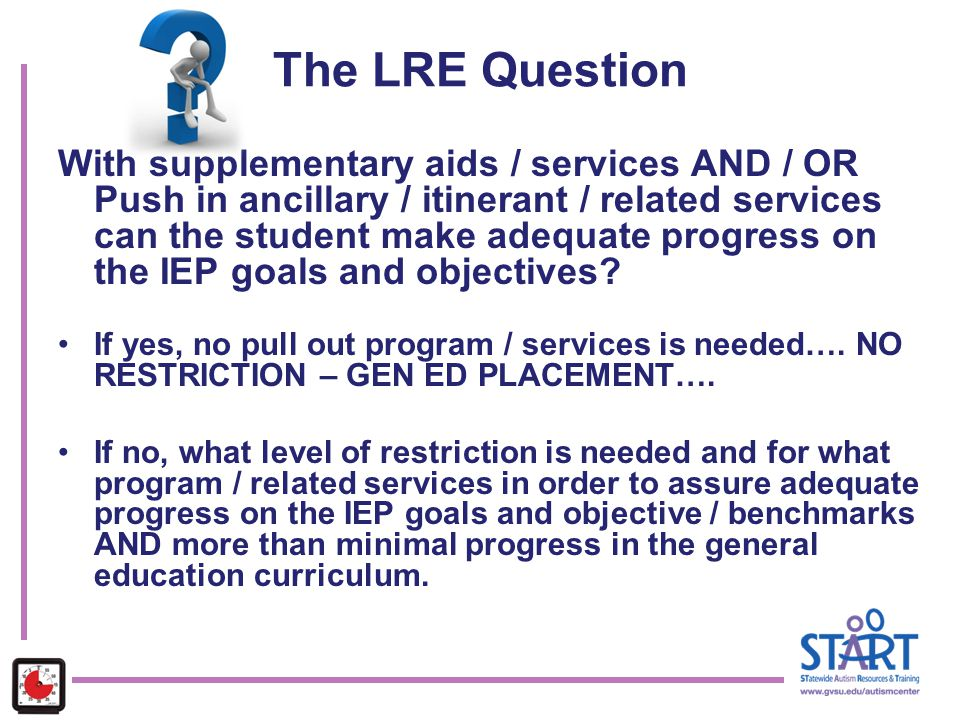 The LRE Question