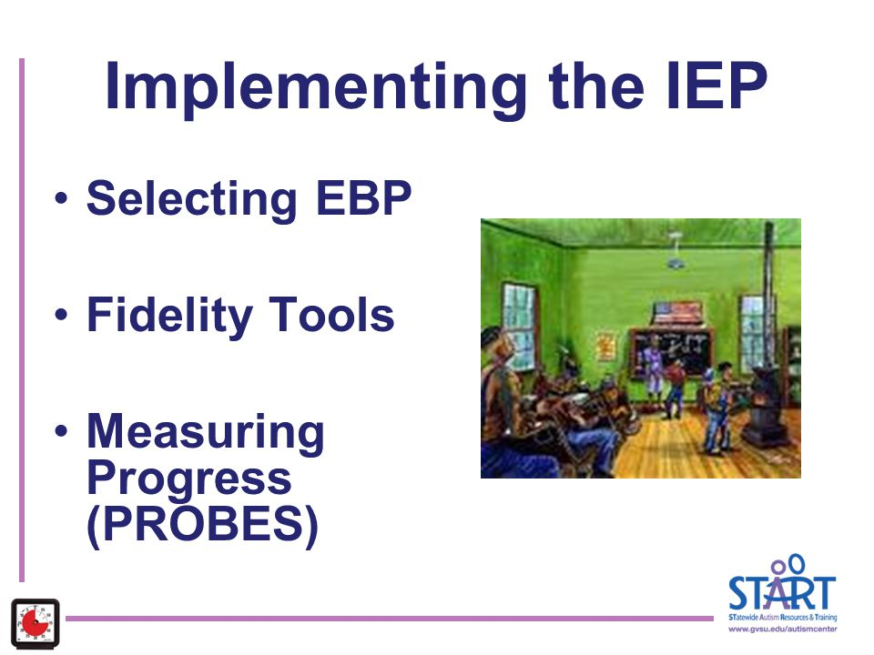 Implementing the IEP Selecting EBP Fidelity Tools