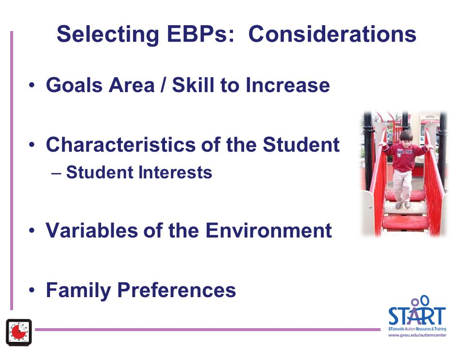 Selecting EBPs: Considerations