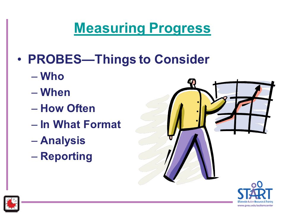 Measuring Progress PROBES—Things to Consider Who When How Often