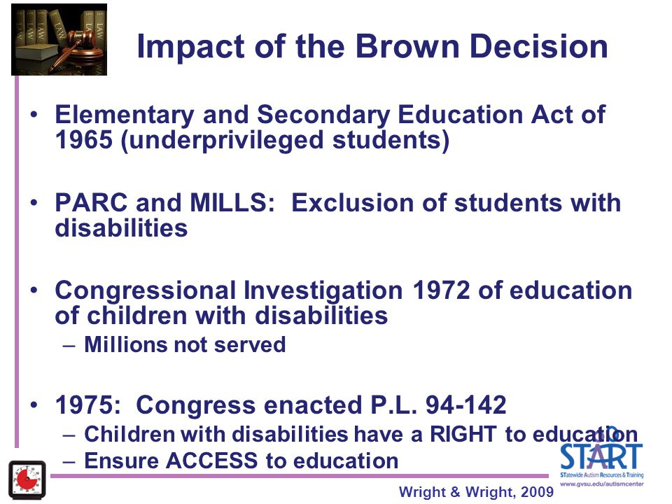 Impact of the Brown Decision