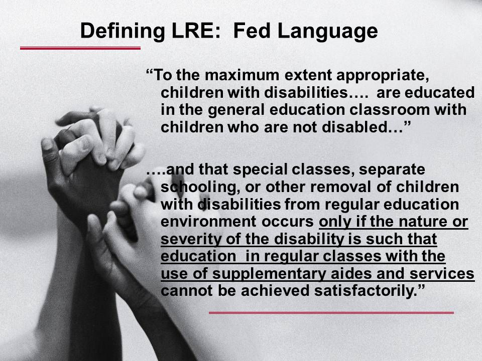Defining LRE: Fed Language