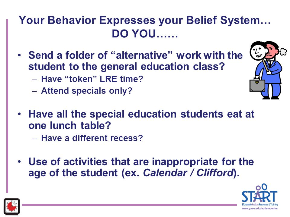 Your Behavior Expresses your Belief System… DO YOU……