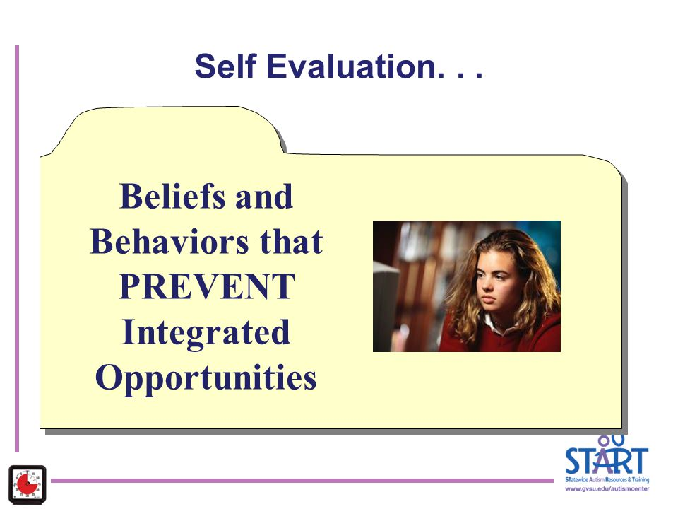 Beliefs and Behaviors that PREVENT Integrated Opportunities