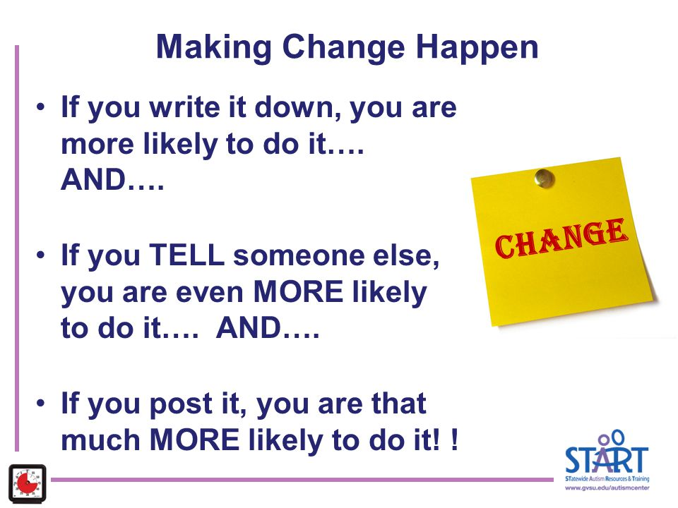 Making Change Happen CHANGE