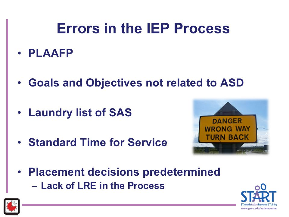 Errors in the IEP Process