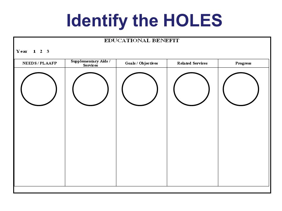 Identify the HOLES Key Concepts: