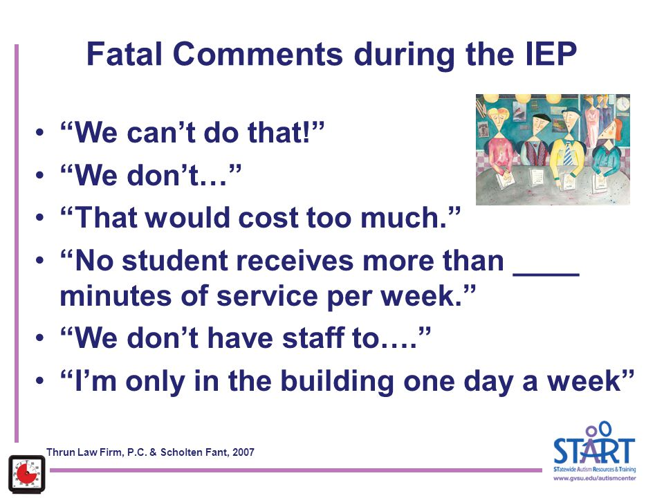 Fatal Comments during the IEP