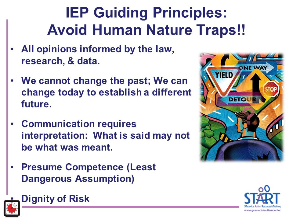IEP Guiding Principles: Avoid Human Nature Traps!!