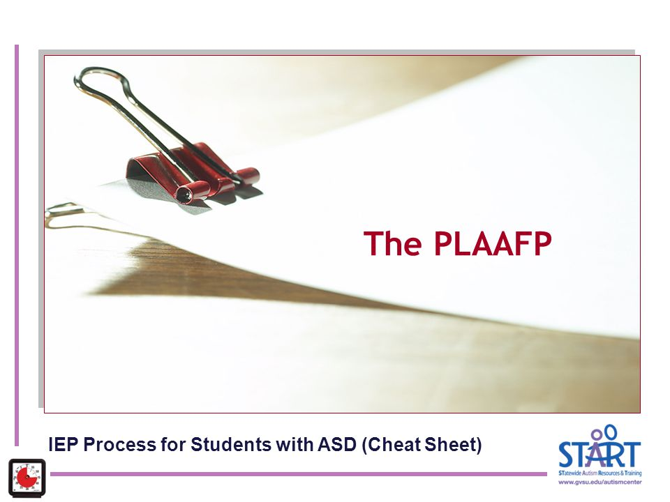 IEP Process for Students with ASD (Cheat Sheet)