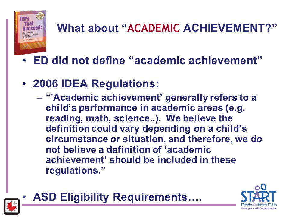 What about ACADEMIC ACHIEVEMENT