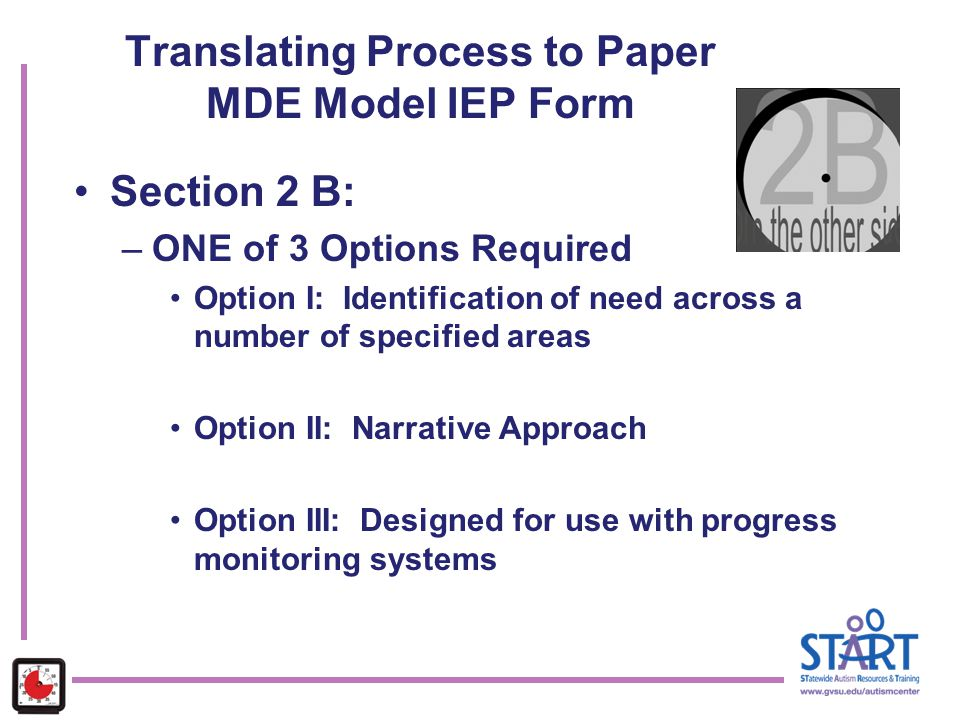 Translating Process to Paper MDE Model IEP Form