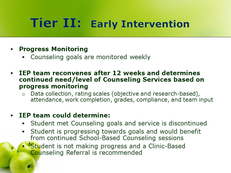 Tier II: Early Intervention