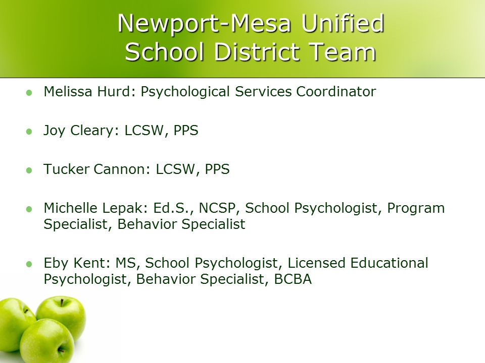 Newport-Mesa Unified School District Team