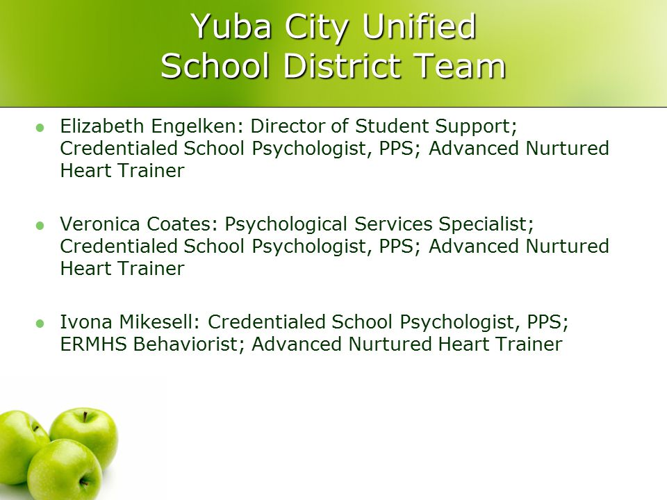 Yuba City Unified School District Team