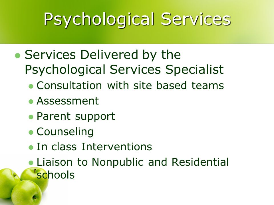 Psychological Services