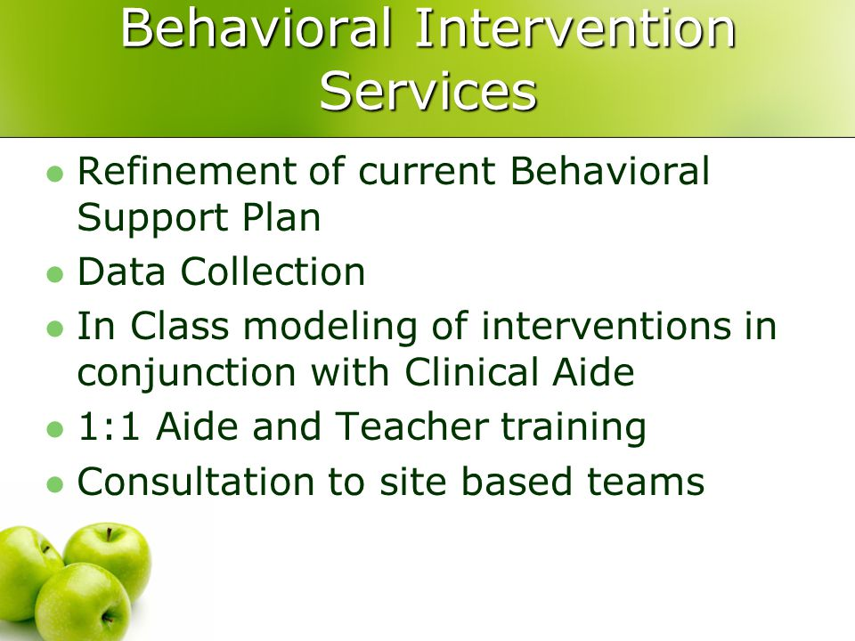 Behavioral Intervention Services