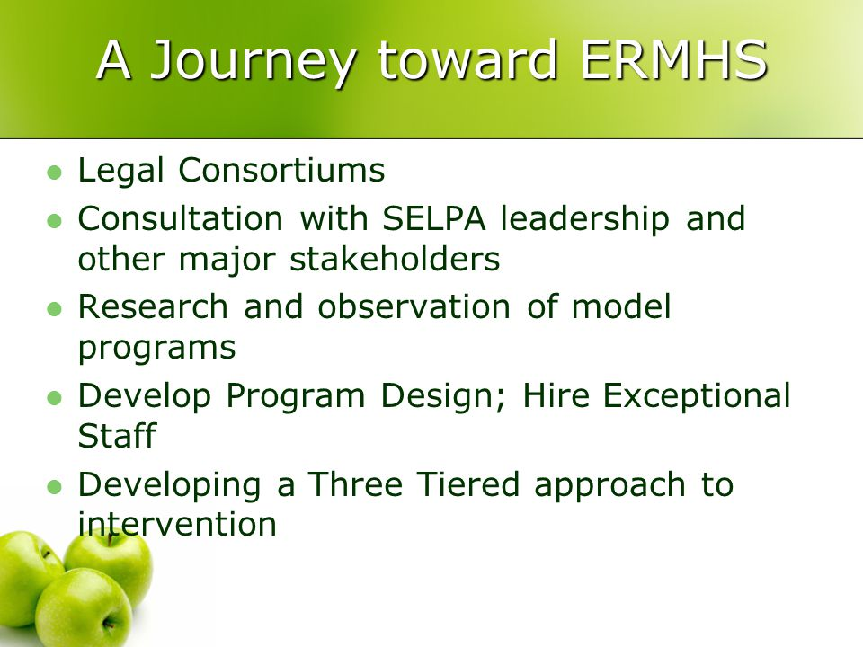 A Journey toward ERMHS Legal Consortiums