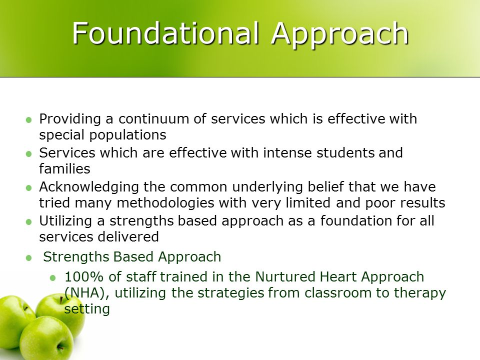 Foundational Approach