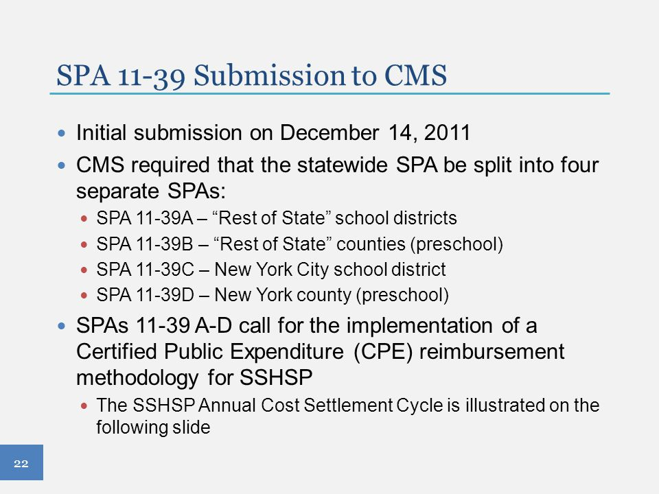 SPA 11-39 Submission to CMS Initial submission on December 14, 2011