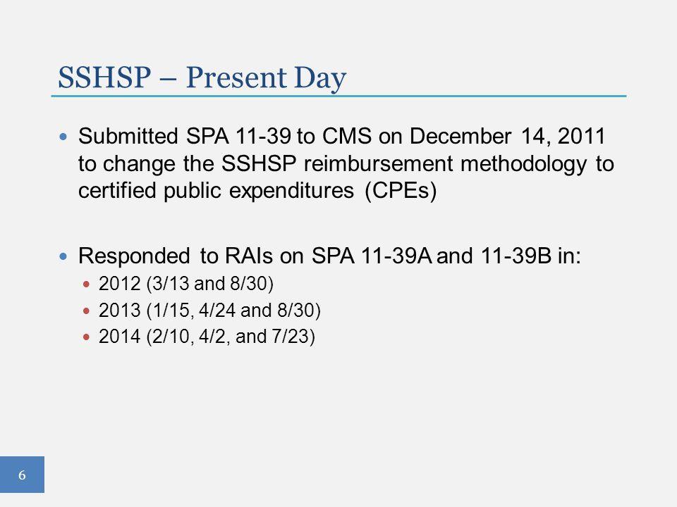 SSHSP – Present Day