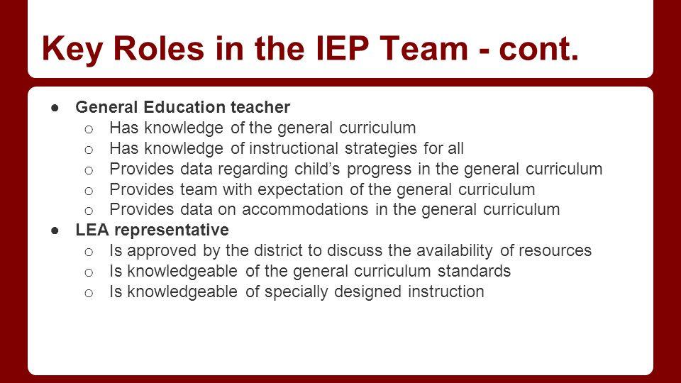 IEP Team Meetings