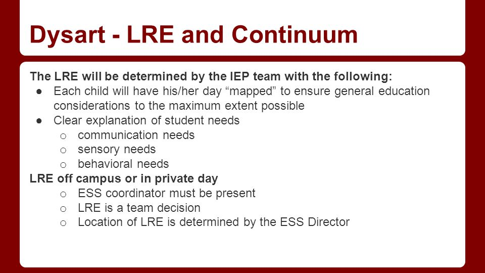 Implementing the IEP IEPs should be implemented as soon as possible following the IEP meeting at.