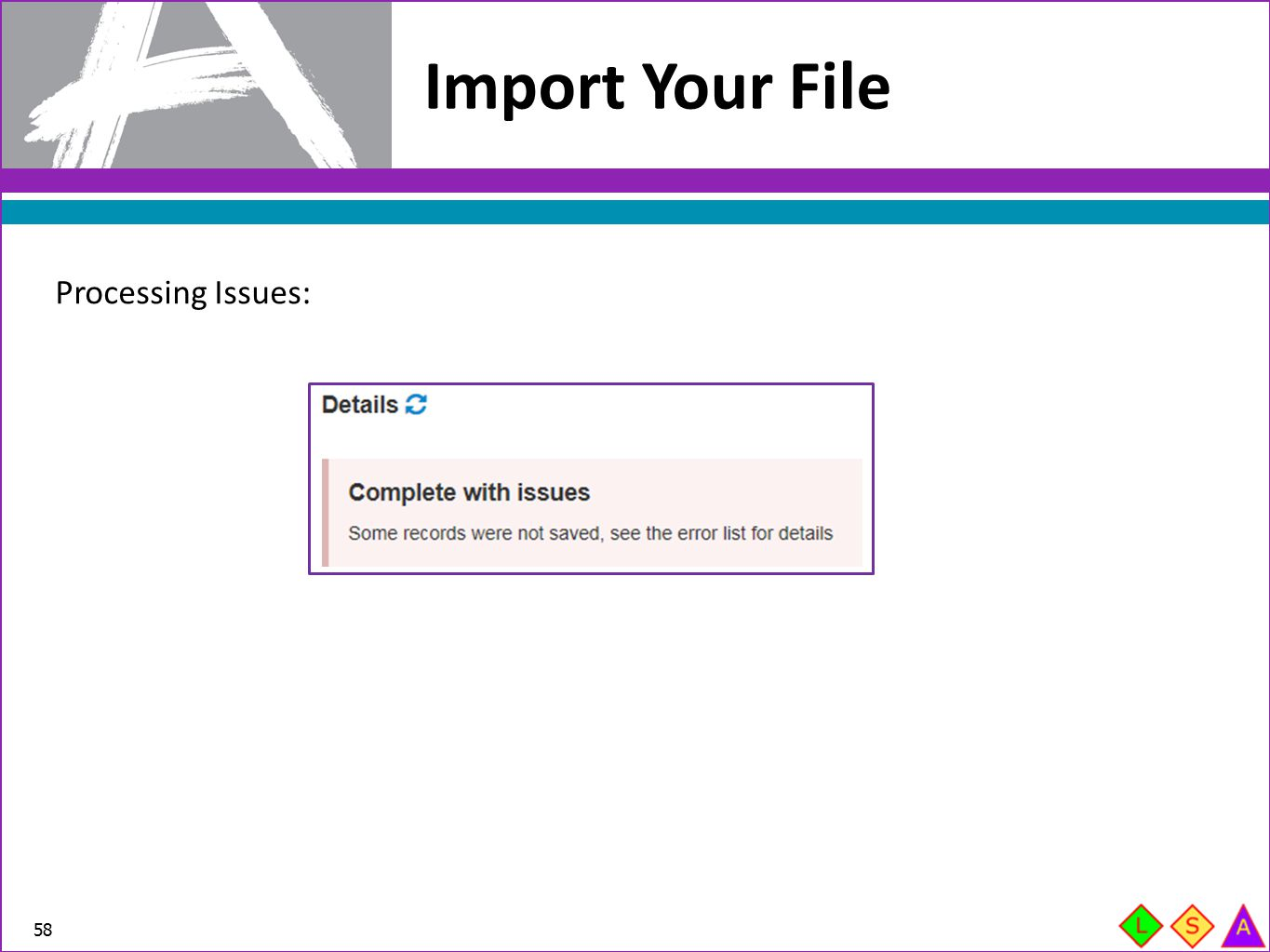Import Your File Processing Issues: