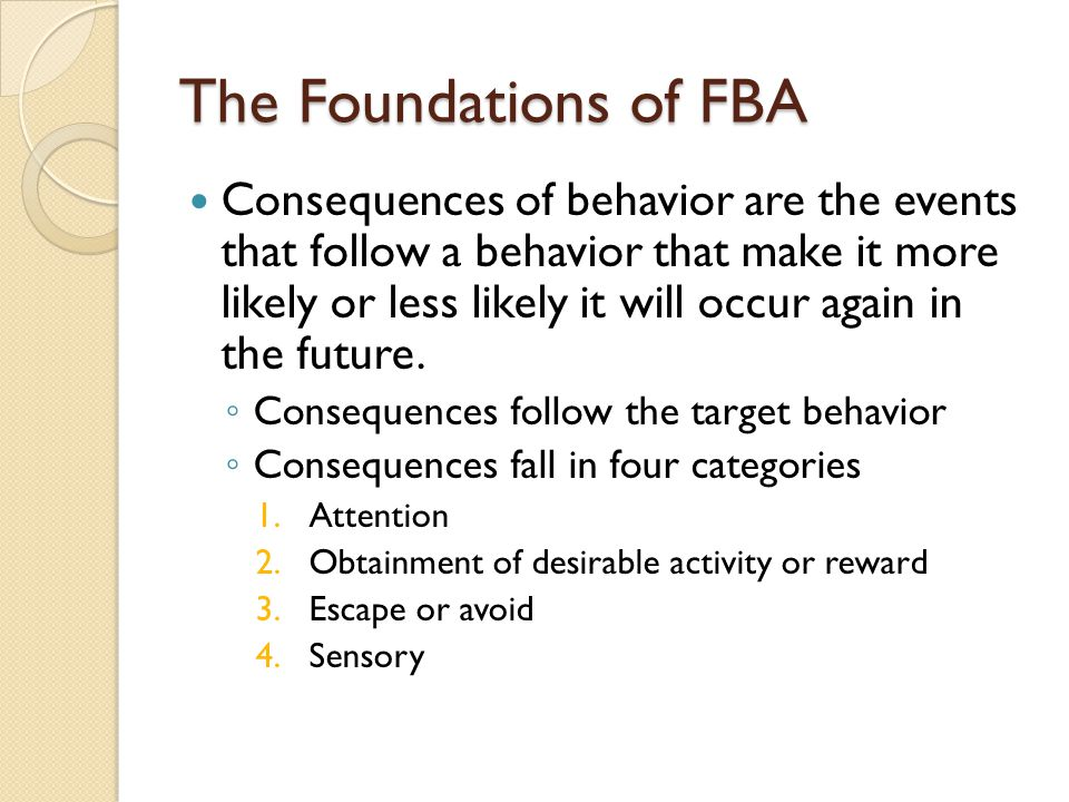 The Foundations of FBA