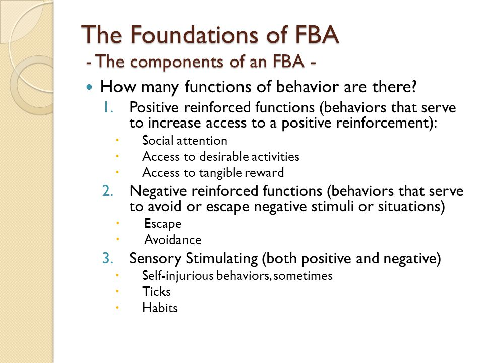 The Foundations of FBA - The components of an FBA -